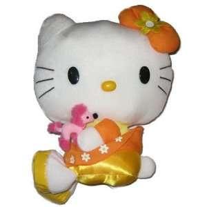 Hello Kitty Orange Dress Plush Toys & Games