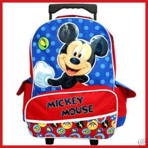 Disney Mickey Mouse 16Large School Roller Backpack/Bag