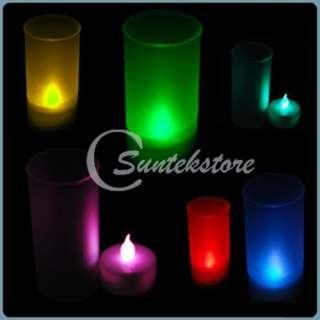 10pcs Battery Operated MINI LED Tea Light Candle Color