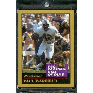 1991 ENOR Paul Warfield Football Hall of Fame Card #148