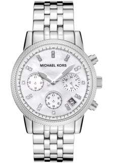 Michael Kors Womens Chronograph White Crystal Stainless Steel MK5020