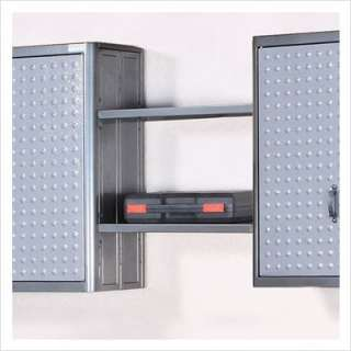 Powell Hot Rod Garage Two Wall Hanging Shelves in Dark Gray 632 346