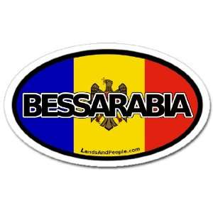 Bessarabia Moldova Flag Car Bumper Sticker Decal Oval