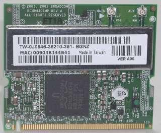 Dell Inspiron 600m Mini PCI Wireless Card J0846