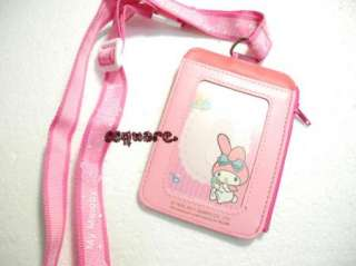 Sanrio My Melody Card Holder with Neck Strap and Zip Multi Function