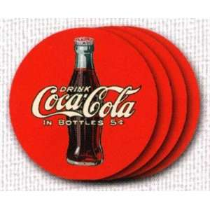 Coca Cola Glass Coasters Set