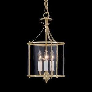 968 02 Polished Brass Ascot 8 Pendant Clear Glass 2Lt Polished Brass