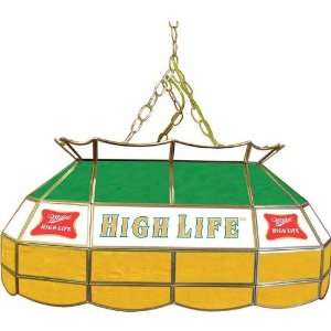 Miller High Life 28 inch Stained Glass Pool Table Light