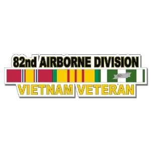 US Army 82th Airborne Division Vietnam Veteran Window Strip Decal