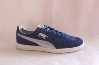 NEW PUMA DALLAS MENS BLUE SILVER SUEDE LEATHER SHOE SNEAKER SIZE 11.5