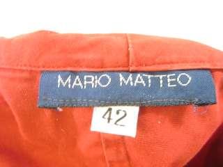 MARIO MATTEO Red Jacket Top Blouse Shirt Sz 42