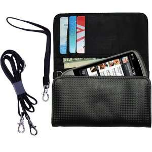 Black Purse Hand Bag Case for the HTC Hero2 with both a