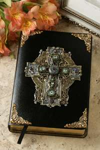 Jo Marz Jeweled Celtic Cross   Limited Edition Bible