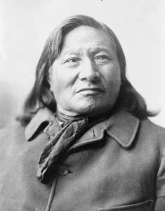 GREAT NATIVE AMERICAN INDIAN CHIEF RAIN IN THE FACE PHOTO WESTERN