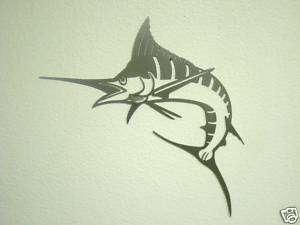 Sword fish Marlin wall art 14ga raw steel 24 inch