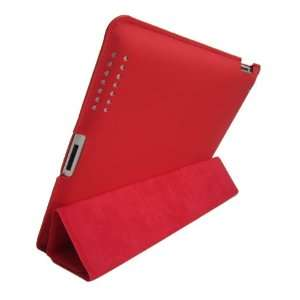 iGADGET iPad 2 High Quality PU Leather Case Red With Back