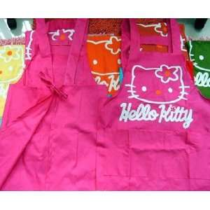 Hot Pink Hello Kitty Head Home Kitchen Chef Apron Strap plus 2 rubber