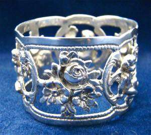 VINTAGE/ANTIQUE NAPKIN RING~835 coin~SOLID STERLING SILVER~GERMANY