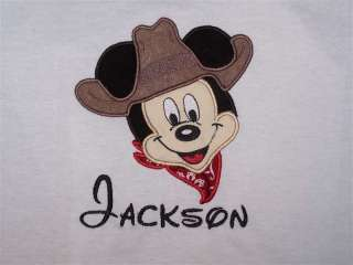 Personalized Custom MICKEY MOUSE Cowboy Birthday Shirt