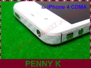 White 3D Carbon Fiber Full Body Wrap Skin Vinyl Sticker for iPhone 4