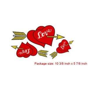 Amico Red Arrow Heart Love Car Decor Logo Badge Sticker