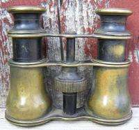 Small Anique Working Brass Binoculars Signed Lemaire Fab. Paris WWI