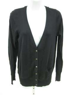 LAURIE B Black Long Sleeve Cardigan Sweater Top Size L