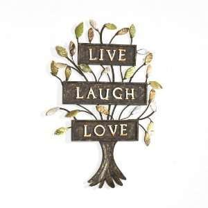 SEI Live Laugh Love Tree Wall Sculpture