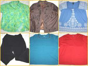 WOMENS PLUS SIZE CLOTHES LOT  SIZE 3X 22 24  LANE BRYANT LIZ & ME