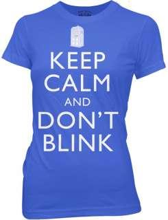 Keep Calm & Dont Blink Angels Ladies Women Jr T shirt tee top