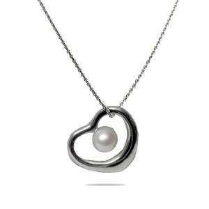 Pearl Heart Necklace  Clearance Final Sale Eves Addiction Jewelry