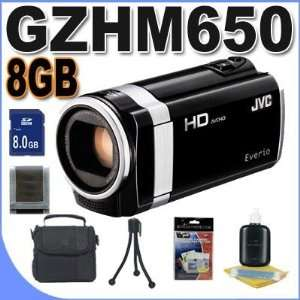 JVC GZ HM650B 8GB Full HD Everio Camcorder (Black