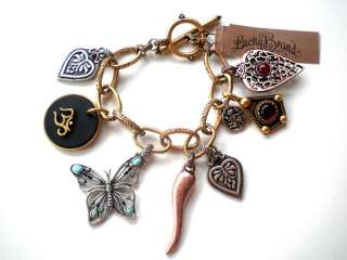 NEW LUCKY BRAND BUTTERFLY TOGGLE CHARM BRACELET NWT