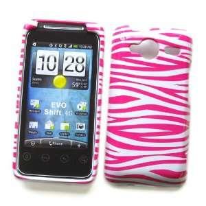 Case White & Pink Zebra Pattern Design Cell Phones & Accessories