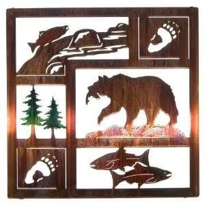 Lazart® 20 Salmon Run Laser Cut Metal Wall Art with