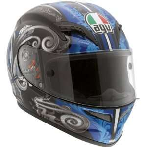 AGV Grid Stigma Black/Blue Motorcycle Helmet Small AGV SPA