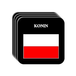 Poland   KONIN Set of 4 Mini Mousepad Coasters