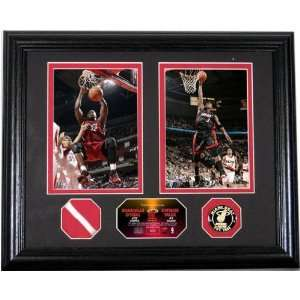 NBA All Stars Photo Mint with Authentic Game Used Net Piece Sports