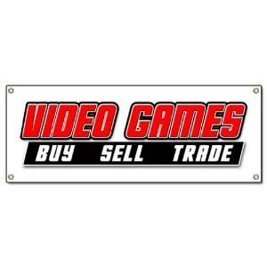 GAMES BANNER SIGN buy sell trade game signs Patio, Lawn & Garden