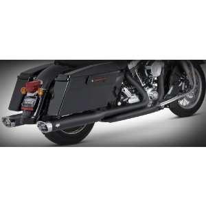 Black Dresser Duals Head Pipes for 1995 08 Harley Davidson Touring