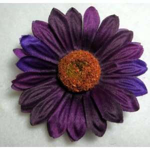 NEW Eggplant Purple Daisy Flower Hair Clip, Limited