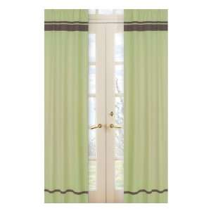 Hotel Green And Brown Window Panels   Set Of 2