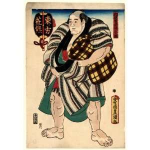 1847 Japanese Print sumo wrestler Arakuma, full length