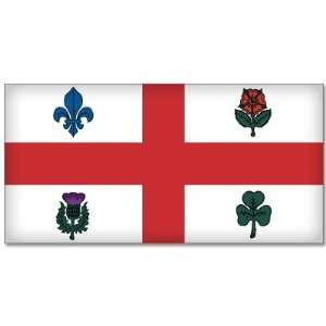 Montreal Canada City Flag car sticker decal 3 x 5
