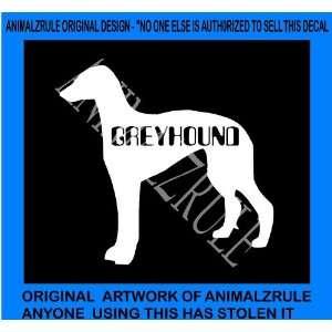 GREYHOUND DOG VINYL DECAL