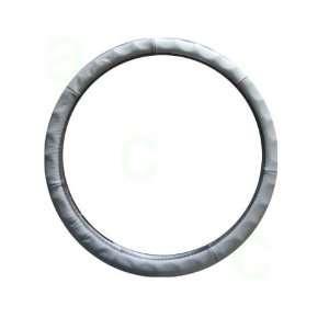 Grove Grip Steering Wheel Cover   Genuine Leather Grey Automotive
