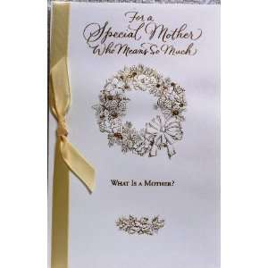 Christmas Card MOM for a Special Mother Who Means so Much. What Is a