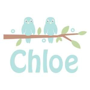 Personalized Love Birds Wall Decal Baby
