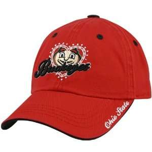 the World Ohio State Buckeyes Scarlet Ladies True Love Adjustable hat