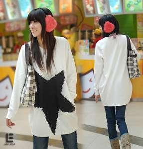 New Korean Womens Star Image Casual Long Top medium Hot Thick